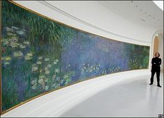 Les Nymphéas- A Monet I love and got to visit someday! It is in Paris at Musee L'Orangerie.