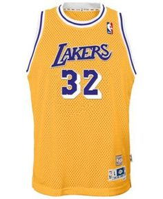 adidas Magic Johnson Los Angeles Lakers Retired Player Swingman Jersey, Big Boys (8-20) - Gold XL