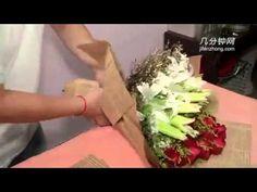 赤バラの花束の紹介、そして赤バラの花束の作り方~How to make red roses bouquet. - YouTube