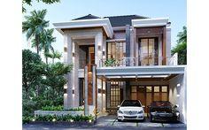 House Arch Design, 2 Storey House Design, Home Building Design, Bungalow House Design, Classic House Exterior, Classic House Design, Dream House Exterior, Modern House Design, Modern House Facades