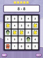 Math Bingo for Math Facts A terrific game for practicing operational fluency, Math Monsters Bingo is another great app from TaptoLearn (Math Vs. Zombies, Measure Length – Tiny Chicken).  With this app, players will answer addition, subtraction, multiplication or subtraction problems and choose the answer on the bingo board.  Math Monsters Bingo has a few different levels – just skip the Facebook login and your kids will be ready to go! math games for kids, mathematics apps, kids math games