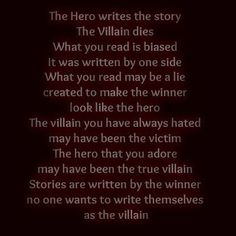 Written by Tabitha Durant. - Very clever observation. Every story has two sides.: