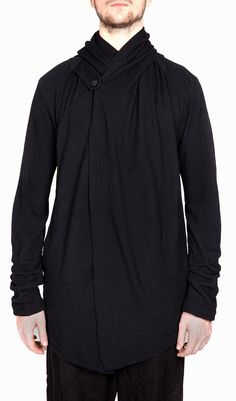 Forme D expression Draped Wool Hooded Cardigan Hooded Cardigan, Hoods,  Menswear, Cowls d86ba486ba