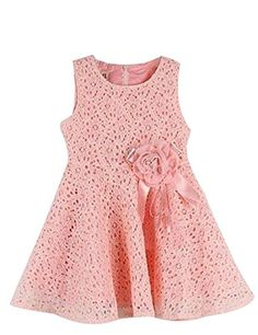 BRAND NEW & High quality Material: Cotton Blend Style: Lace Flower Dress Amoin Kids Toddlers Girls Princess Party Flower Solid Lace Formal Dress Baby Girl Party Dresses, Toddler Girl Outfits, Little Girl Dresses, Baby Princess Dress, Princess Party, Gowns For Girls, Girls Dresses, Summer Dresses, Elegant Dresses