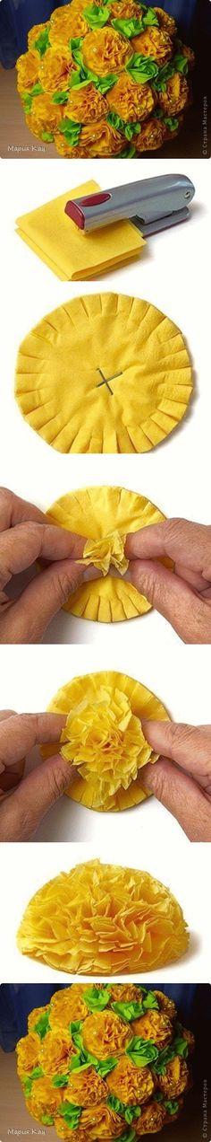 DIY Flower Ball in Easiest Way