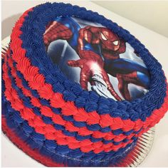 Spiderman Birthday Cake, Dinosaur Birthday Cakes, Superhero Birthday Party, Sofia The First Birthday Cake, 5th Birthday Party Ideas, Baby Birthday, Birthday Wishes Messages, Spider Man Party, Birthday Cakes For Men