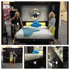 Day 1 of HD Expo 2013 in Las Vegas as the Mandalay Bay Convention Center. Partners Margot Schrank & Jo-Anne Newton with Murphy Bed Concepts, Inc.