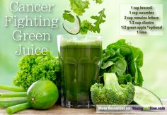 Cancer Fighting Green Juice - Young and Raw