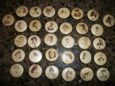 Vintage Sweet Caporal Cigarette Pins Buttons - Lot of 36 Movie Stars - Girls