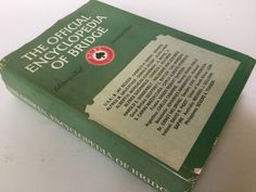 """1964 book""""The Encyclopedia Of Bridge"""" by  Richard L. Frey and Alan F. Truscott by Hannahandhersisters on Etsy"""