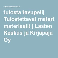 tulosta tavupeli| Tulostettavat materiaalit | Lasten Keskus ja Kirjapaja Oy Special Education, Language, Teaching, School, Peda, Learning, Language Arts, Education