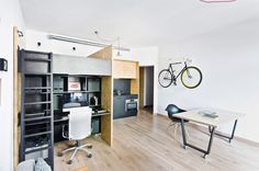 mode:lina creates a surprisingly spacious studio in poland