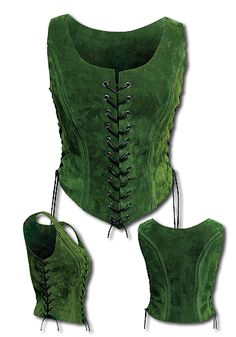 Traveling Lady, green - Armour for Women - Leather Armour - Armour