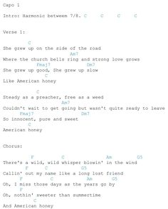 AMERICAN HONEY CHORDS by Lady Antebellum @ Ultimate …