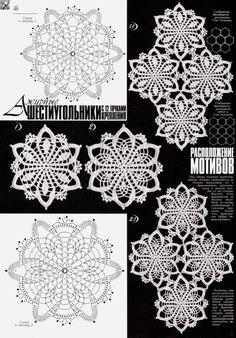 Crochet coasters pattern vintage 51 ideas for 2019 Crochet Motif Patterns, Crochet Chart, Crochet Squares, Thread Crochet, Crochet Designs, Hexagon Pattern, Crochet Tablecloth, Crochet Doilies, Crochet Flowers