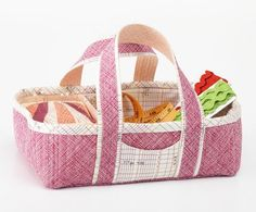 Stitch your own Social Tote, then use it to carry a portable handwork project.