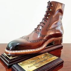 Ascot Shoes — The Budapest Oxford High Boots. Made on the iconic...