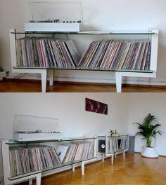 A really nice clean unique record storage idea.