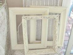 Vintage Frames Set 3 Cottage Shabby Chic by EstateSaleTreasure, $26.88