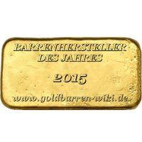 Goldbarren - Hersteller des Jahres 2015 - MünzManufaktur