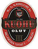 Kuohu beer label, Mallaskoski factory Seinäjoki.