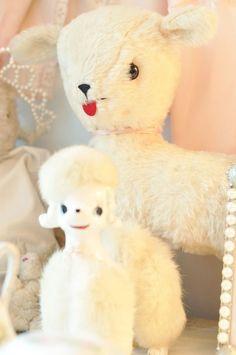 Vintage Poodle & Lamb