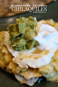 Guacamole Chicken Chilaquiles