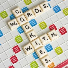 Scrabble cookies, now you can play with your food!
