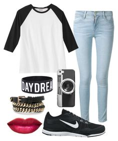 """Baseball tee."" by eemaj ❤ liked on Polyvore"