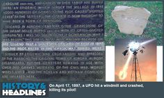 """April 17, 1897: UFO Crashes at Aurora, Texas! Alien Buried with """"Christian Rites!"""" - http://www.historyandheadlines.com/april-17-1897-ufo-crashes-aurora-texas-alien-buried-christian-rites/"""