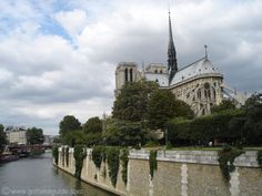 Notre-Dame Cathedral from the back...it is on an island in Paris