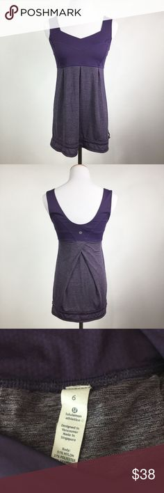 LULULEMON DARK PURPLE/ HEATHERED PURPLE TANK GUC lululemon athletica Tops Tank Tops