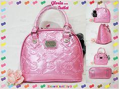 0f9900115 Amazon.com : Loungefly Hello Kitty Pink Glitter Patent Embossed Mini Bag  Handbag Sanrio SANTB1275 : Beauty