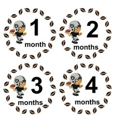 Monthly Baby Boy Onesie Stickers Oakland Raiders Football Sports Onesie Stickers WATERPROOF Baby Shower Gift. $9.00, via Etsy.