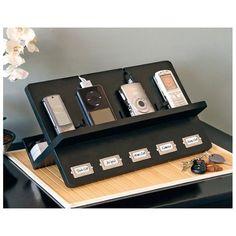 Ledger Electronic Device Holder in Black Finish