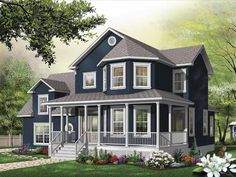 Farmhouse House Plan with 2391 Square Feet and 3 Bedrooms(s) from Dream Home Source | House Plan Code DHSW65473