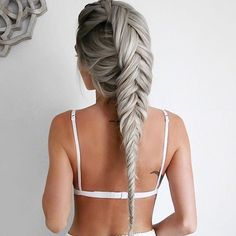 \'Hello Hair hair masks are life savers\'  Oh, to have a braid game as strong as Emily Hannon! ✨ She treats her tresses and extensions to regular #HelloHair masks in order to keep them strong, lustrous shiny . .  #hairgamestrong #hairgoals #maneenvy #ohhellohair #hairlove #braidgamesostrong
