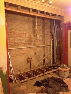 Exposing a brick wall by removing plaster and tips for cleaning use a wire brush attachment on for How to clean interior stucco walls