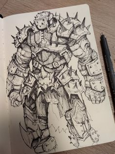Dark Art Drawings, Amazing Drawings, Easy Drawings, Creepy Sketches, Art Sketches, Fantasy Character Design, Character Design Inspiration, Character Design Tutorial, Mythical Creatures Art