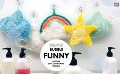 **Creative BUBBLE, Schwammgarn ** Farbe: rot  50g / 90m 100% Polyester 60 Grad waschbar  Jetzt macht der Abwasch Spaß! Dank des innovativen Garns Creative Bubble gehören langweilige Schwämme...