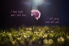 [Isaiah 46:4 ESV] I have made, I have made, and I will bear; I will carry and will save.