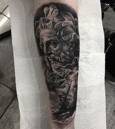Poseidon tattoo Aaron King