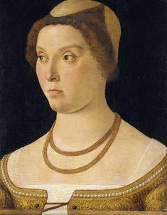 Portret van een vrouw, omgeving van Giovanni Bellini, 1450 - 1470