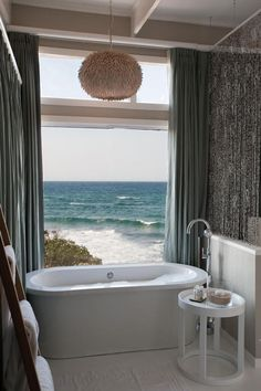 Bathroom opens onto the ocean..   White Pearl Resorts on the Coast of Mozambique