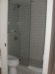 white large subway tile with light grey grout