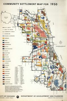 1950 Chicago 'Ethnic' Map....wonder why they made this ...smh