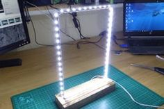 Modern Led Infinity Mirror Table Lamp : 19 Steps (with Pictures) - Instructables Vinyl Record Art, Vinyl Records, Infinity Mirror Table, Desk Lamp, Table Lamp, Table Mirror, Luz Led, Home Interior Design, Circuit