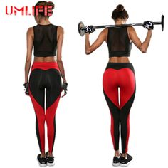 2017 Yoga Pants Women Heart Patchwork Sports Running Tights Leggings Slim Fitness Gym Sexy Push Up Pants Jogging Sport Trousers #Affiliate