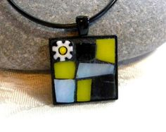 Mosaic Pendant AQUA/TURQUOISE/TEAL by StarryNightStudios99