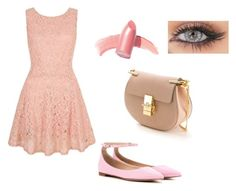 """""""Amy's Sweetheart Dance"""" by monkey2665 ❤ liked on Polyvore featuring Yumi, Gianvito Rossi, Chloé and Elizabeth Arden"""